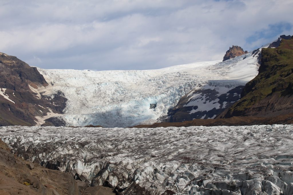 Skaftafell glacier and Svartifoss waterfall