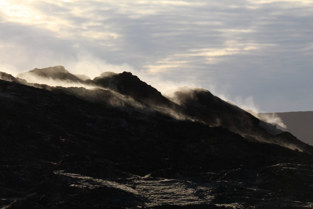 Leirhnjukur fuming lava field