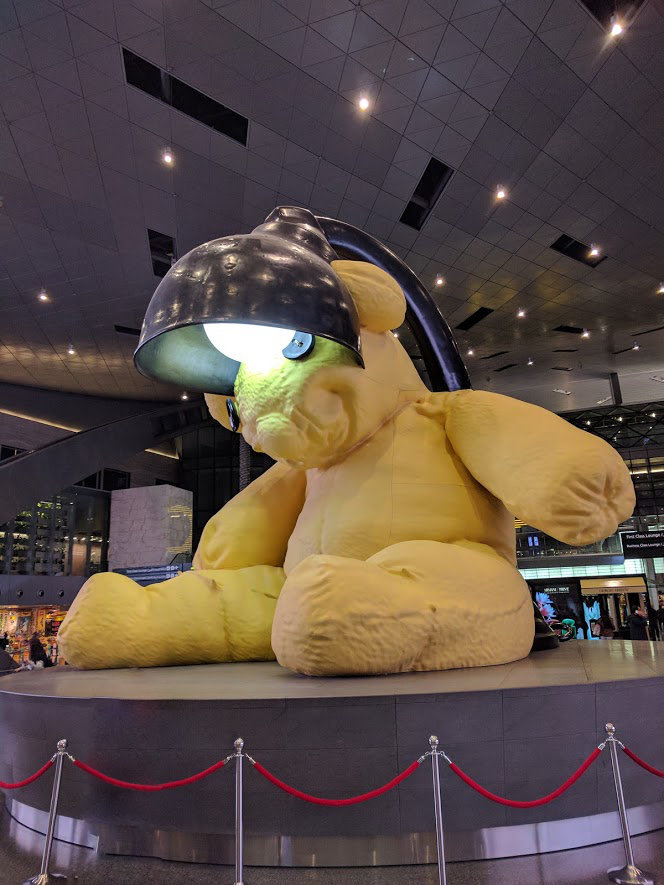 The Doha bear sculpture