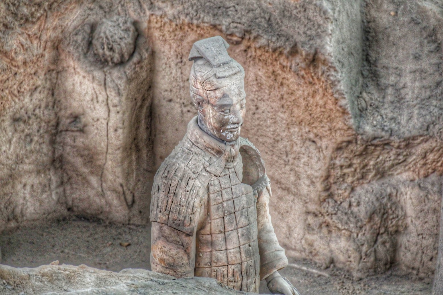Heartbroken terracotta soldier.