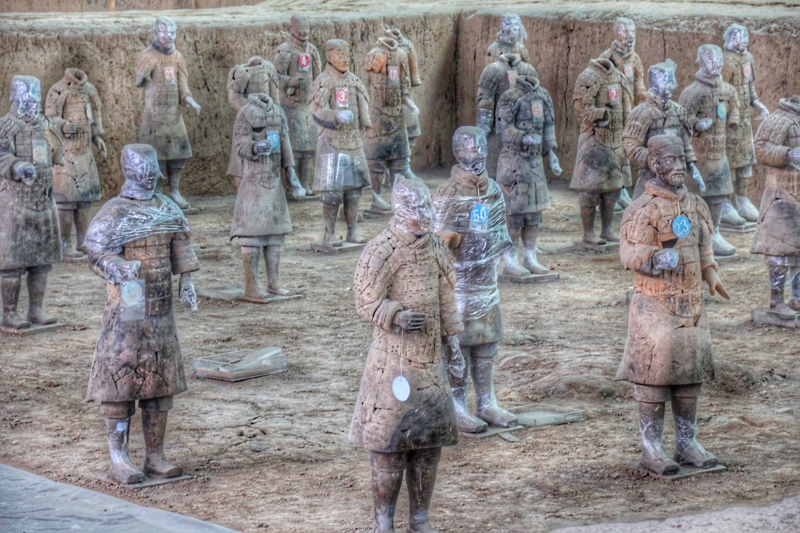 "Terracotta soldiers patiently waiting for admission in the ""hospital"""