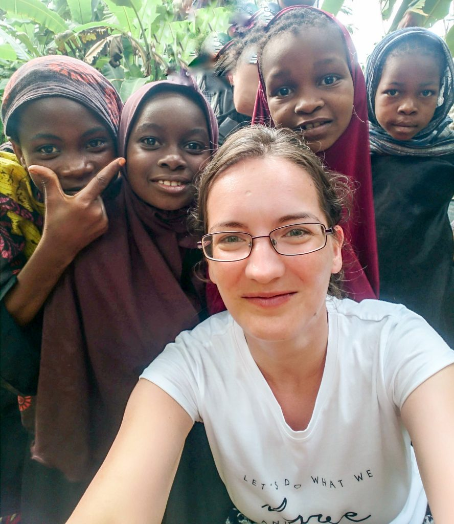 Selfie with the little girls from a traditional village in Mchangani, Zanzibar - 10 reasons to visit Zanzibar.