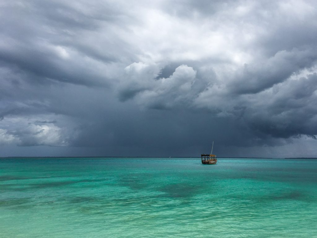 Zanzibar under magical storm clouds - 10 reasons to visit Zanzibar.