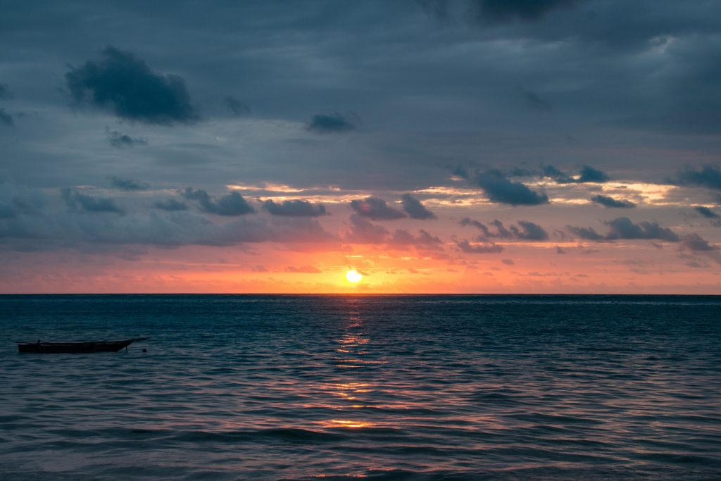 Sunrise from the beachfront of Ocean Paradise Resort, Zanzibar - 10 reasons to visit Zanzibar.